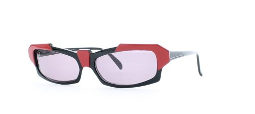 Alain Mikli 113 647 Black and Red Authentic Women Vintage - Alain Sunglasses Mikli