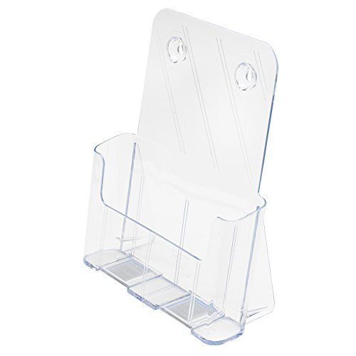 (Deflecto Single Compartment Literature Holder, Countertop or Wall Mount, Magazine Size, Clear, 9-1/4