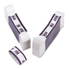 – Color-Coded Kraft Currency Straps, Dollar Bill, $50, Self-Adhesive, 1000/Pack