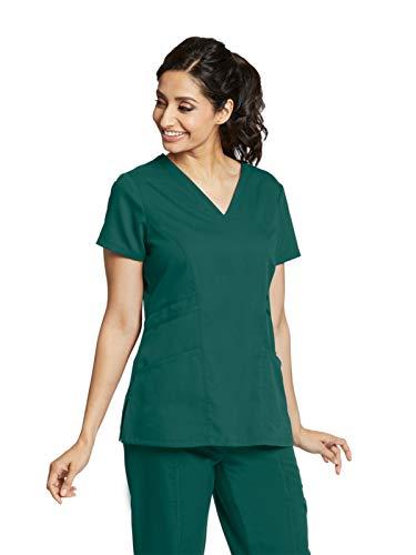 Grey's Anatomy 41452 V-Neck Top Hunter Green -