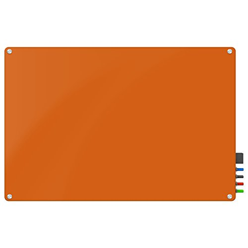 Magnetic Glass Eraser Board - Eased Corners Whiteboard by Fab Glass and Mirror (48'' x 96'', Peach) by Fab Glass and Mirror