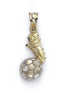 Crampons pour football 14 Carats Pendentif Boule-JewelryWeb