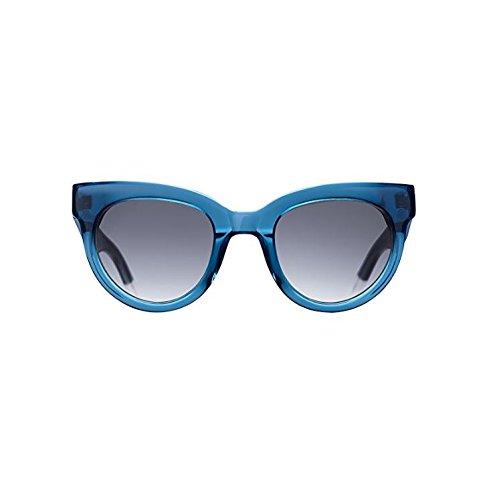 Triwa Women's Olivia Sunglasses, Transparent Blue & Transparent White Temple Tips, 55 - Sunglasses Triwa