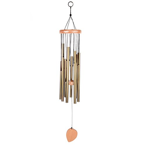 BEAUTIFUL WIND CHIMES – Tuned 28″ Wood Windchimes Deliver Rich, Full, Relaxing Tones – Best Large Wooden Wind Chime For Outdoor Patio – Music To Your Ears – SATISFACTION GUARANTEE (28″, 8 tubes)