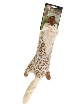 Skinneeez Big Bite Water Bottle Dog Toy Jackal