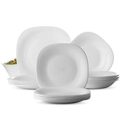 - Bormioli Rocco PARMA 19 Piece Dinnerware set Serving for 6, Includes 6x7.¾
