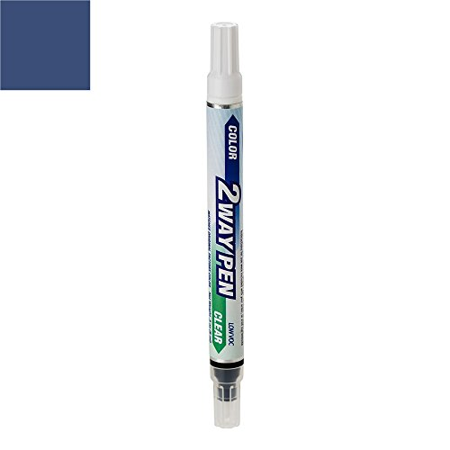 ExpressPaint 2WayPen BMW 5 Automotive Touch-up Paint - Mystic Blue Metallic Clearcoat A07 - Color + Clearcoat Only