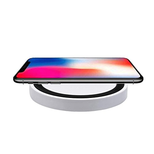 Price comparison product image Fast Wireless Charger, Portable Qi Wireless Power Fast Charger Charging Pad For Iphone 8 / 8 Plus / X (Black)
