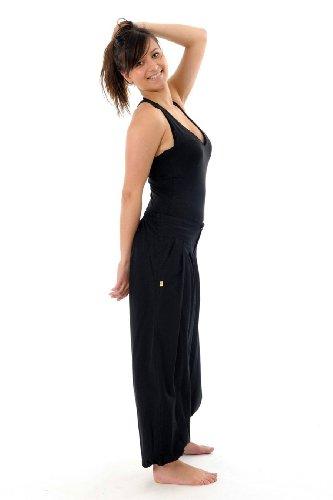 Equitable-Pantalón recto-bola negro