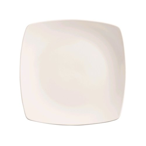 (World Tableware Porcelana Bright White Coupe Square Plate, 11 inch - 12 per case.)