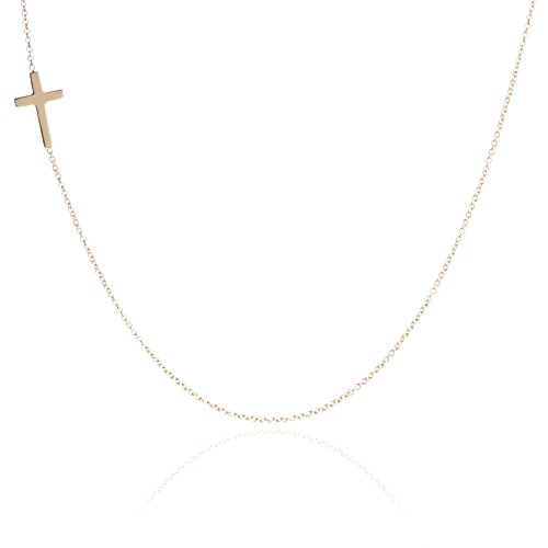 Adina Reyter Tiny Cross 14k Yellow Gold Pendant Necklace (Adina Necklace Reyter)