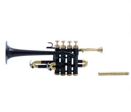 PICCOLO TRUMPET BLACK COLOR Bb & PICOLLO BRASS by SAI MUSICAL