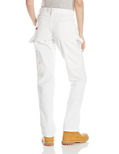 Dickies Women's Premium Painter's Relaxed Fit Utility Pant, White, 4 Regular by Dickies (Image #2)