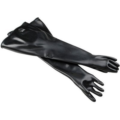 North 8N3032/9Q By Honeywell Size 9 3/4 Black 32'' 30 mil Neoprene Multi-Dipped Hand Specific Chemical Resistant Gloves With Smooth Finish (1/PR)