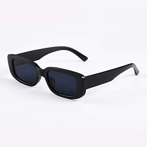 ZJIEJ Lunettes de Soleil Summer New Small Frame Rectangle Women Men Sunglasses Solid Color Retro Fashion Eyewear Glasses Wild Sunglasses