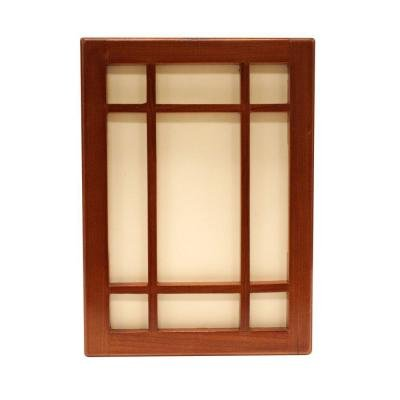 Wireless or Wired Door Bell, Craftsman Style Medium Cherry Wood