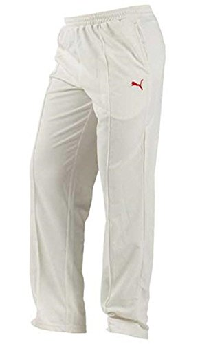 999a827e2cd0 PUMA Men s Cricket Team Knit Trouser Dry-Fit Dress Uniform Off-White ...