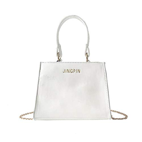 White Patent Bag - AFfeco Women Fashion Patent Leather Crossbody Handbag Shoulder Bags (White)