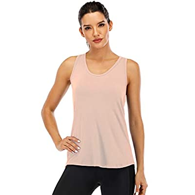 Fihapyli Workout Tank Tops for Women Sleeveless Yoga Tops for Women Mesh Back Tops Racerback Muscle Tank Tops: Clothing