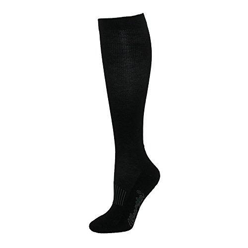 Wrangler Men's Dry Wick Western Boot Sock (Pack of 3), Black