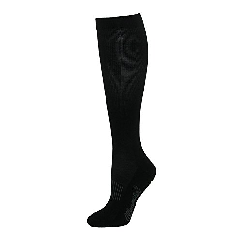 Wrangler Men's Dry Wick Western Boot Sock (Pack of 3), Black