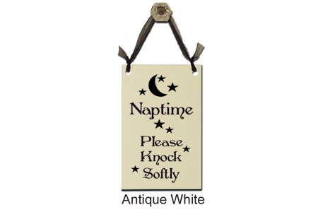 Wrapped In A Cloud Naptime.Please Knock Softly - Decorative Sign S-350/356W (Child Sign Sleeping)