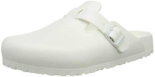 Birkenstock Boston Eva White, Zuecos Unisex Adulto Blanco (White)