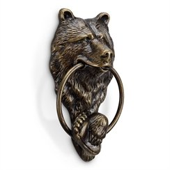 GSM Aluminum Bear Doorknocker