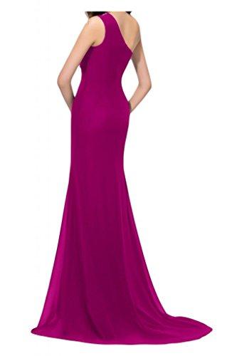 Toscana sposa moda kraftool Chiffon stanotte abiti da sera con tulle un'ampia Ball Bete vestimento per festa viola 34