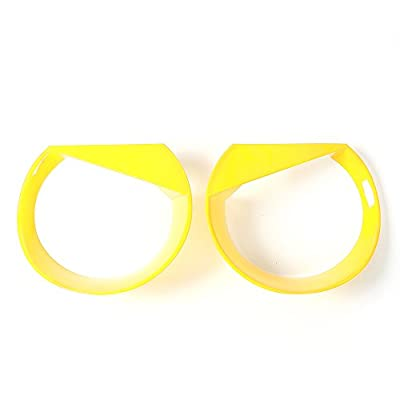 RT-TCZ Front Light Cover Angry Bird Headlight Bezels Cover ABS Trim For 2015 2016 2020 Jeep Renegade-2PCS (Yellow): Automotive