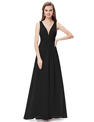 Ever-Pretty Womens Floor Length Semi Formal Evening Dress 8 US Black by Ever-Pretty (Image #3)