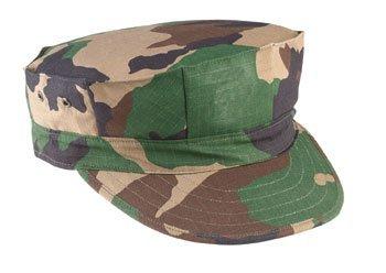 Woodland Camouflage Marine Corps Fatigue Cap 5633 Size ()