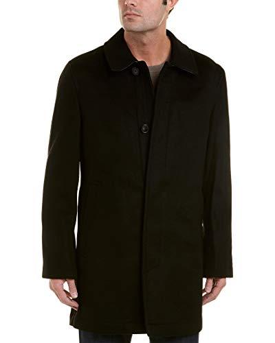 (Hart Schaffner Marx Men's Douglas Cashmere-Blend Overcoat, Black, 42)