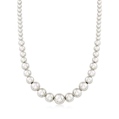 Ross-Simons Italian 6-14mm Sterling Silver Graduated Bead Necklace