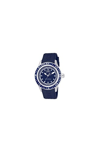 Invicta Men's 15224 Specialty Blue Textured Dial Blue Polyurethane Band Watch (Watch Textured Blue Dial)