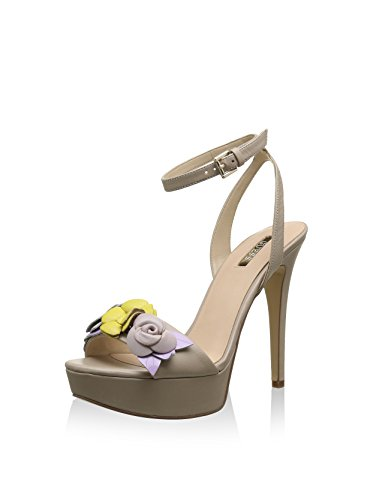 GUESS (KANITA) Sandalo Donna Pelle Fiori Beige FLKAN2LEA03