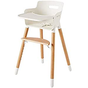 Fantastic Wooden High Chair For Babies And Toddlers With Harness Removable Tray And Adjustable Legs Bralicious Painted Fabric Chair Ideas Braliciousco