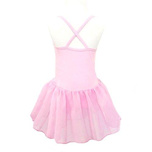 ompson Little Girls Ballet Leotard Dress Gymnastics Tutu Skirt PinkXXL(Tag:160)