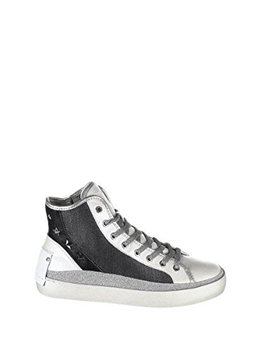 Crime Londres Femmes 2534722 Baskets Gris Cuir Londres Crime Salut Top rrdwTq6