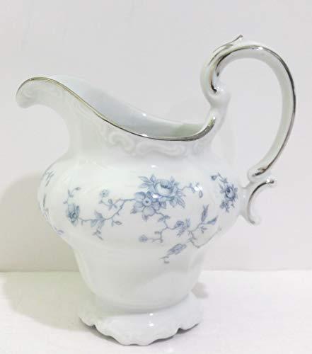 Vintage Johann Haviland Bavaria Germany Blue Garland Pattern Creamer