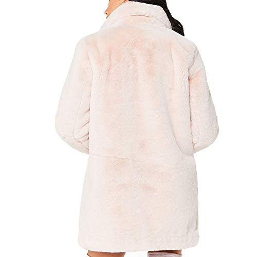 avec Femmes Cardigan Long Casual Manteau Pull Lache Automne Pink Poches Hiver Fourrure Oversize Chaud Fausse EFINNY TOXdqT