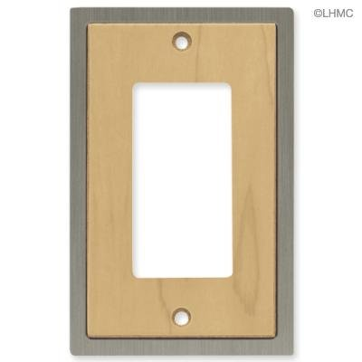 Maple Rocker (Brainerd Single Gfci/rocker Wall Plate #64566 Maple/satin)