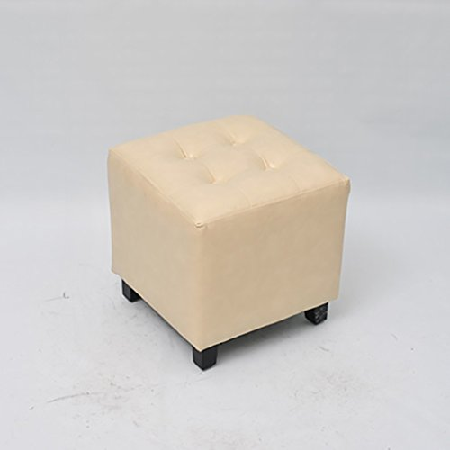 AIDELAI Stool chair Korean Garden Small Square Stool Stool Living Room Ottoman Small Sofa Stool Fabric Change Shoes To Wear Shoes Stool Makeup Stool (35 35 35cm) Saddle Seat ( Color : D ) by AIDELAI