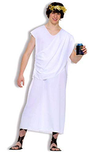 Forum Novelties Men's Teenz Unisex Costume Toga, White, One Size