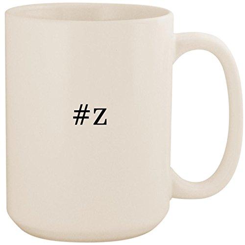 #z - White Hashtag 15oz Ceramic Coffee Mug Cup