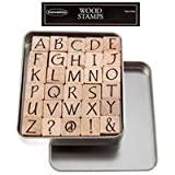 Upper Case Party Ink Alphabet Rubber Stamp SetNew by: CC