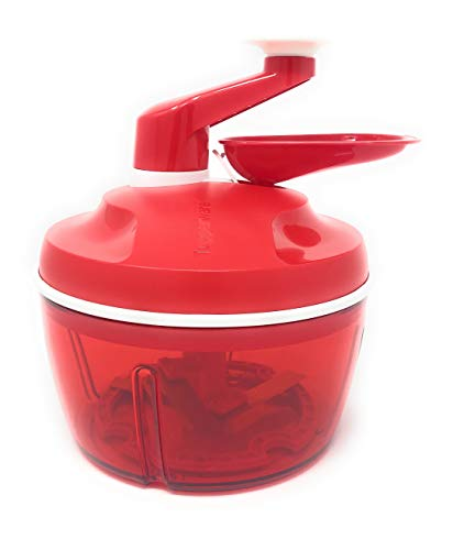 (New Tupperware Quick Chef Food Processor, New Color, Sheer Red)