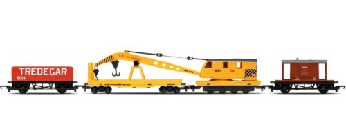 20t Brake Van, Crane, Lwb Open Breakdown Train Set
