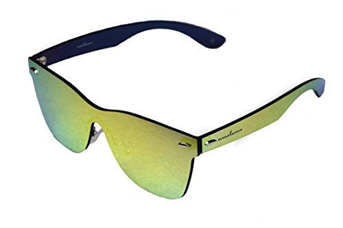 de Wayfarer sin gafas sol amoloma marco reflejado oro de rebordes estilo sin las g5B8wa