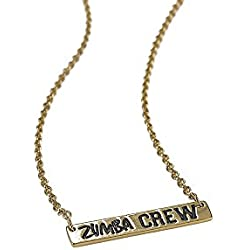 Zumba Crew Necklace - Zumba Dance Fitness Engraved Gold Jewelry Accessories